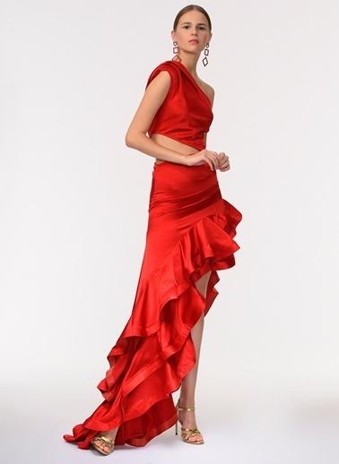 Davet Çok Elbisem Yok Elbise Kırmızı